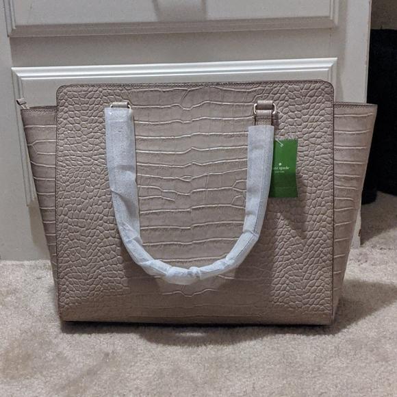 kate spade Handbags - Kate Spade Bristol Drive Croc Elissa in Almondine
